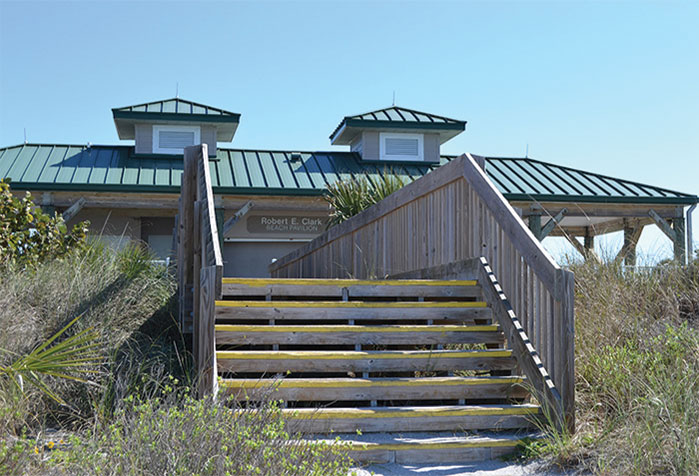 Venice North Pier Parking Beach Pavilion Jon F Swift Construction General Contractors Sarasota Fl