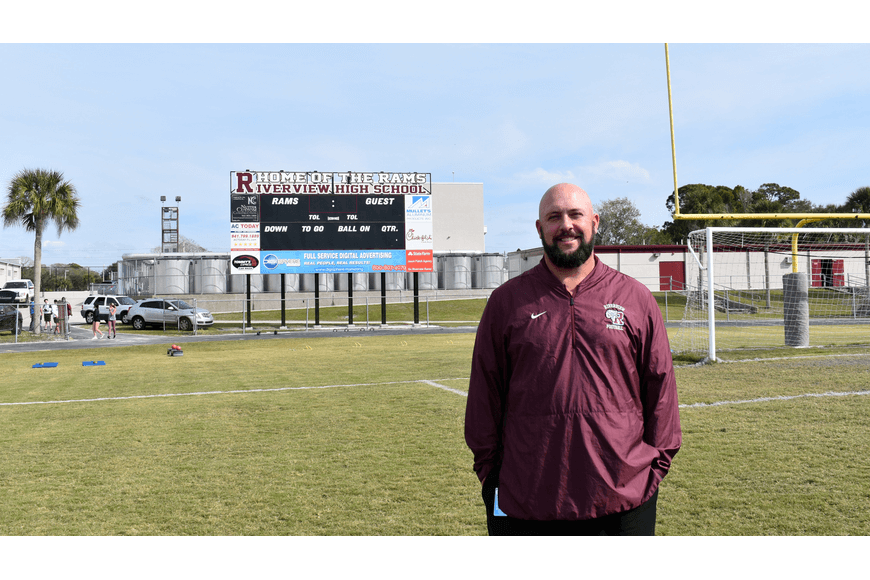 Riverview High School Football Coach Joshua Smithers